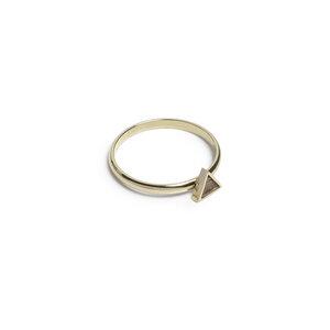Ring mit Holzdetails gold - Aurum Ring - BeWooden