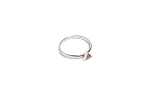 Ring mit Holzdetails silber - Lini Ring - BeWooden