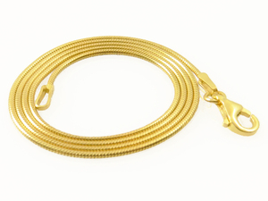 Schlangenkette aus vergoldetem 925er Silber 45 cm - Filigrana Schmuck