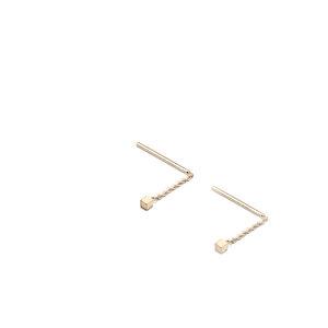 Stecker & Ohrringe CUBE, Gold 585, 14 Karat, CUBE 2 oder 3 mm, Länge 4 - 40 mm, Handmade in Germany - Jonathan Radetz Jewellery