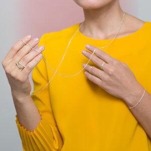 Kette Endless, fine(01), raw(02), Snake(03), finecube (04), fine square (05), endlos, Länge 120cm, Silber 925, Made in Germany - Jonathan Radetz Jewellery