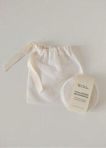 10 Waschbare Abschminkpads aus Bio Baumwolle inkl. Beutel - Daniela Salazar