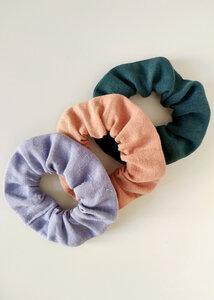 Scrunchies 3er Pack CALIPSO aus Hanf- Haargummis - Daniela Salazar