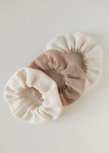 Scrunchies 3er Pack DUNE aus Bio Baumwolle - Haargummis - Daniela Salazar