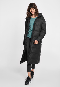 "Damen Winterjacke aus rec. Polyester ""Interlink LONG STRAIGHT"" grey - derbe"