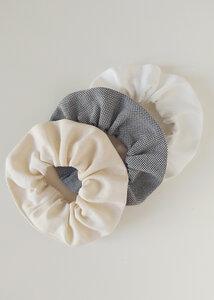Scrunchies 3er Pack LUNA aus Bio Baumwolle - Haargummis - Daniela Salazar