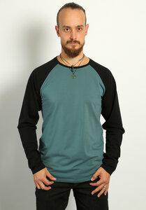 Männer Raglan Langarm Shirt Waldgeflüster - Die rote Zora