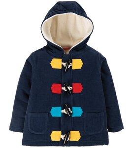 Kuschliger Kinder Cord-Dufflecoat dunkelblau, aus Biobaumwolle - Frugi