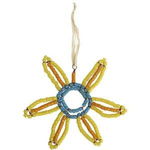 Upcycling Christbaumschmuck - Sonnenblume - Geschenkdeko - Weihnachtsdeko - Global Mamas