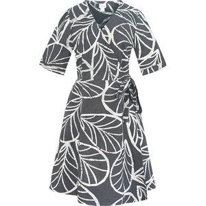 Bio Sommer- & Herbstkleider - Ocean Tropics Blau / Canopy Charcoal Grau - Global Mamas - Global Mamas