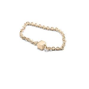 Kettenring fineCUBE, Gold 585, 14 Karat, Größe S - M, Handmade in Germany - Jonathan Radetz Jewellery