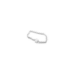 Kettenring fineCUBE, Silber 925, Sterlingsilber, Größe S - M, Handmade in Germany - Jonathan Radetz Jewellery
