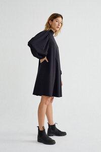 Kleid mit weiten Ärmeln - Flora Dress - Schwarz - thinking mu
