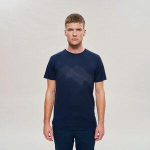 Woolday Merino T-Shirt Herren aus 100% superfeiner Merinowolle mit Aufdruck  - Woolday