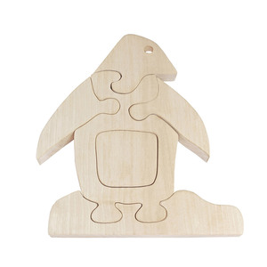 Holzpuzzle Pinguin aus Ahorn, 6-teilig - NATUREHOME
