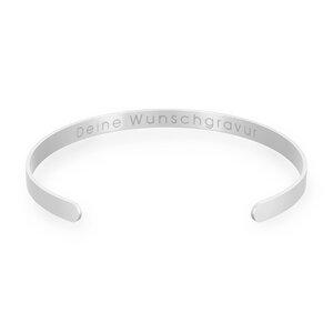 Glänzender Armreif mit Wunschtext und individueller Gravur inkl. FSC-zertifizierter Geschenkbox - Oh Bracelet Berlin