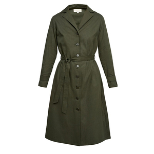 Tia Coat Dress Khaki - People Tree