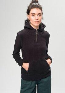 Kapuzensweatshirt Zip Hoodie schwarz - recolution