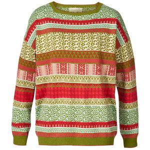 Oversize Jacquardstrick-Pullover aus reiner Bio-Baumwolle  - Himalaya