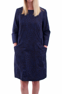 Tanja Shift Dress Navy - People Tree