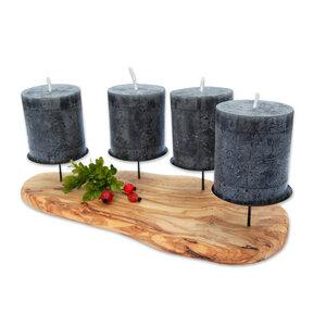 4er Kerzenhalter ADVENTO aus Olivenholz - Olivenholz erleben