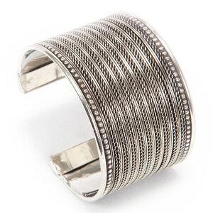'Fine Weave' Armreif - Silver - Kalakosh