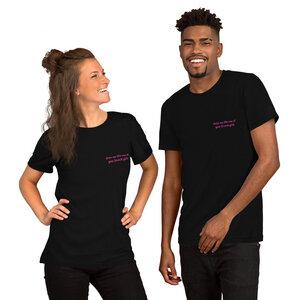 "Unisex T-Shirt aus Bio-Baumwolle ""Draw me like one of your french girls"" Stickerei - Bretter&Stoff"