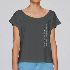 """T-Shirt """"SPRINKLE"""" grau mit Print, Bio-Baumwolle - vibefocus"""