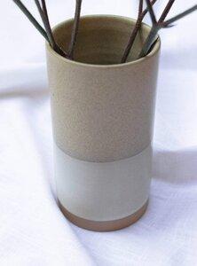 Vase aus Keramik - beige/sand - STUDIO JUX