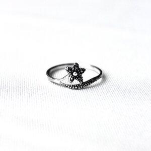 Silber Ring Blütenstiel Fair-Trade und handmade - pakilia