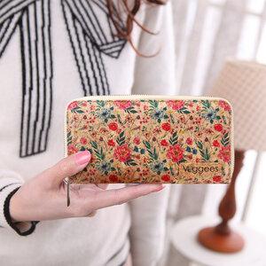 Florina - vegane Kork Geldbörse / Portemonnaie für Damen mit RFID Schutz im vintage Look - Veggees