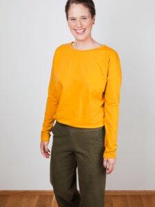 Langarm Shirt 'Olga' mit Print, Bio-Baumwolle - emmy pantun