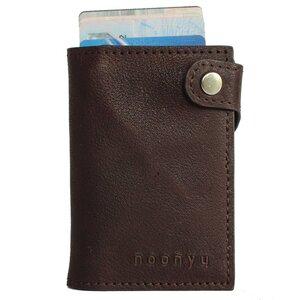 Kreditkarten Börse SLIM (mit RFID Schutz) aus Upcycling Leder  - noonyu