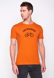 Herren Shirt 100% Biobaumwolle Bike Leave Road Guide GOTS Zertifiziert - GreenBomb