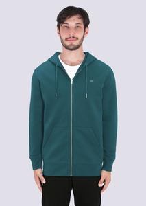 Herren Zipper Hoodie aus Bio Baumwolle Print Reißverschluss - vis wear