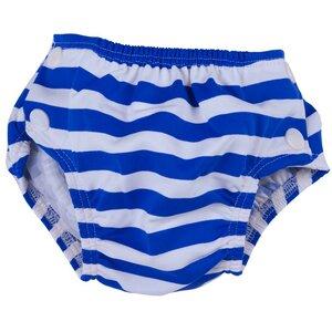 Baby Badehose-Badewindel blau/geringelt schadstoffgeprüft - Popolini
