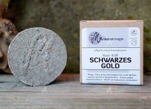 Haarkur-Taler Schwarzes Gold (dunkles Haar) 75 g - Die Kräutermagie