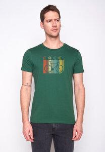 Herren Shirt 100% Biobaumwolle Bike Retro Stripes Guide GOTS Zertifiziert - GreenBomb