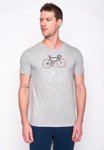 Herren Shirt 100% Biobaumwolle Bike Shape Guide GOTS Zertifiziert - GreenBomb