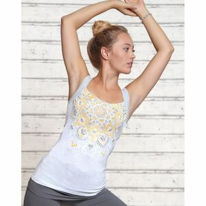 Yoga Top Chakra White Silver - Spirit of OM