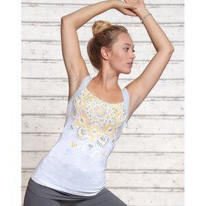 Yoga Top Chakra White Silver - Spirit of OM