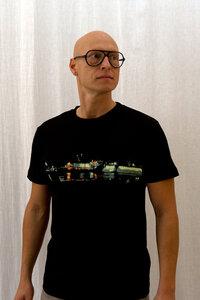 Elbe bei Nacht Boy-T-Shirt - T-Shirtladen-Marktstrasse GmbH