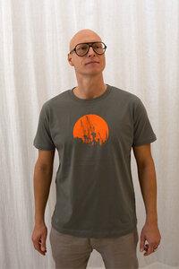Kräne rund, orange Boy-T-Shirt - T-Shirtladen-Marktstrasse GmbH