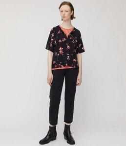 Bluse PINJAA FLOWER BATIK schwarz mit Blumenmuster - ARMEDANGELS