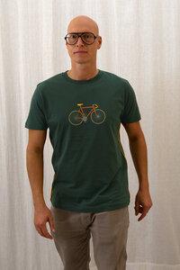 Rennrad grüngrau Boy-T-Shirt - T-Shirtladen-Marktstrasse GmbH