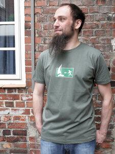 Fluchtweg Boot dunkelgrau Boy-T-Shirt - T-Shirtladen-Marktstrasse GmbH