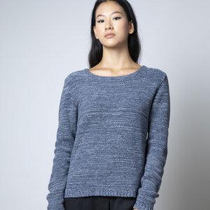 Recycelter Denim Pullover- Raffaella, blau meliert - Rifò - Circular Fashion