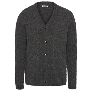 VALLEY Wool Cable Cardigan - GOTS - KnowledgeCotton Apparel