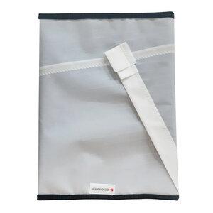Handgearbeitete Notebook-Tasche / Hülle aus Segeltuch Hängegleitersegel UNIKAT bis 16 Zoll - Beachbreak