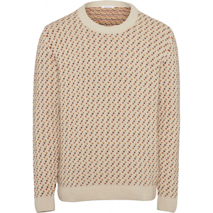 VALLEY Jacquard O-Neck Knit - GOTS - KnowledgeCotton Apparel